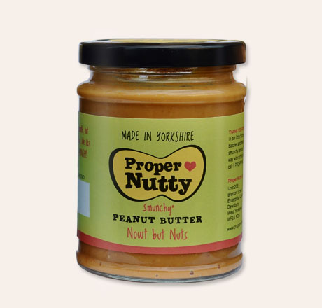 Proper Nutty Peanut Butter - Nowt but Nuts 280g Jar