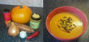 Spicy Pumpkin and Peanut Butter Soup